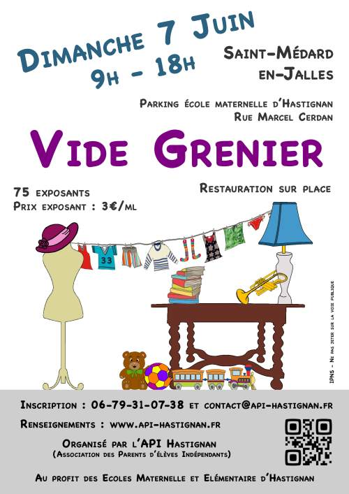 Api hastignan api hastignan association des parents ind pendants d 39 has - Vide grenier 77 2015 ...
